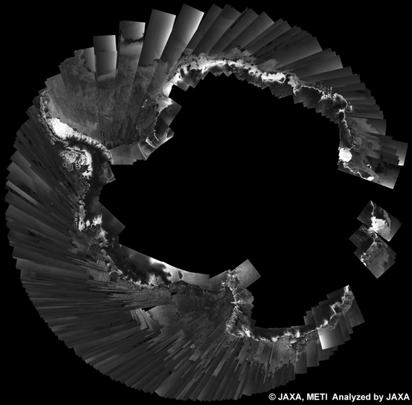 Fig. 4: PALSAR 500m Browse Mosaic (WB1/HH) of ANTARCTICA for cycle34 (Mar. 15, 2010 ~ Apr. 29, 2010).