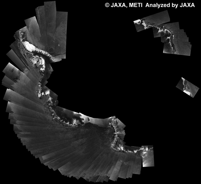 Fig. 4: PALSAR 500m Browse Mosaic (WB1/HH Descending) of ANTARCTICA for cycle38 (Sep. 15, 2010 ~ Oct. 30, 2010).