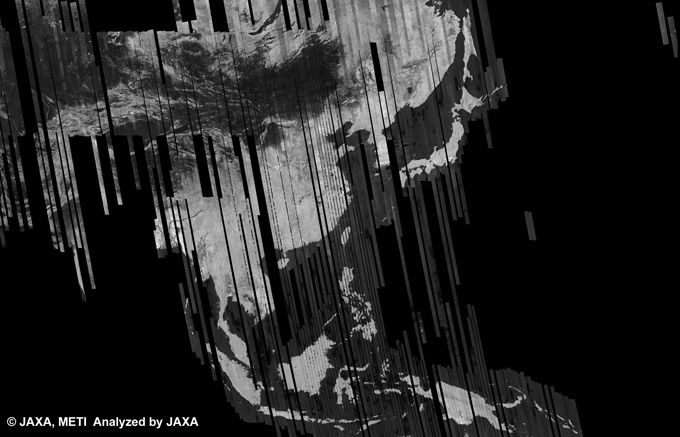 Fig. 5: The 500m Browse Mosaic (FBD/HH Ascending) of ASIA for cycle38 (Sep. 15, 2010 ~ Oct. 30, 2010).