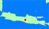 Map of Java Island