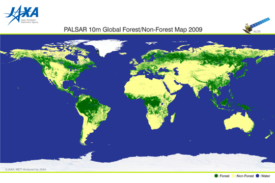 Figure 2: Global Forest/Non-forest Map 2009