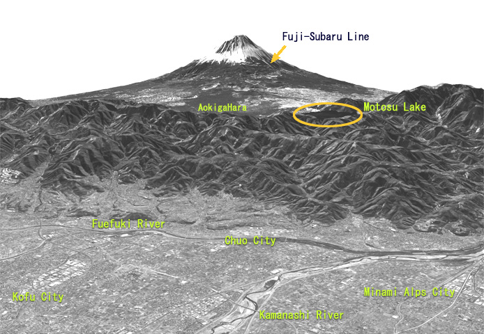 View of Mt. Fuji, Japan observed by the Panchromatic Remote-sensing Instrument for Stereo 