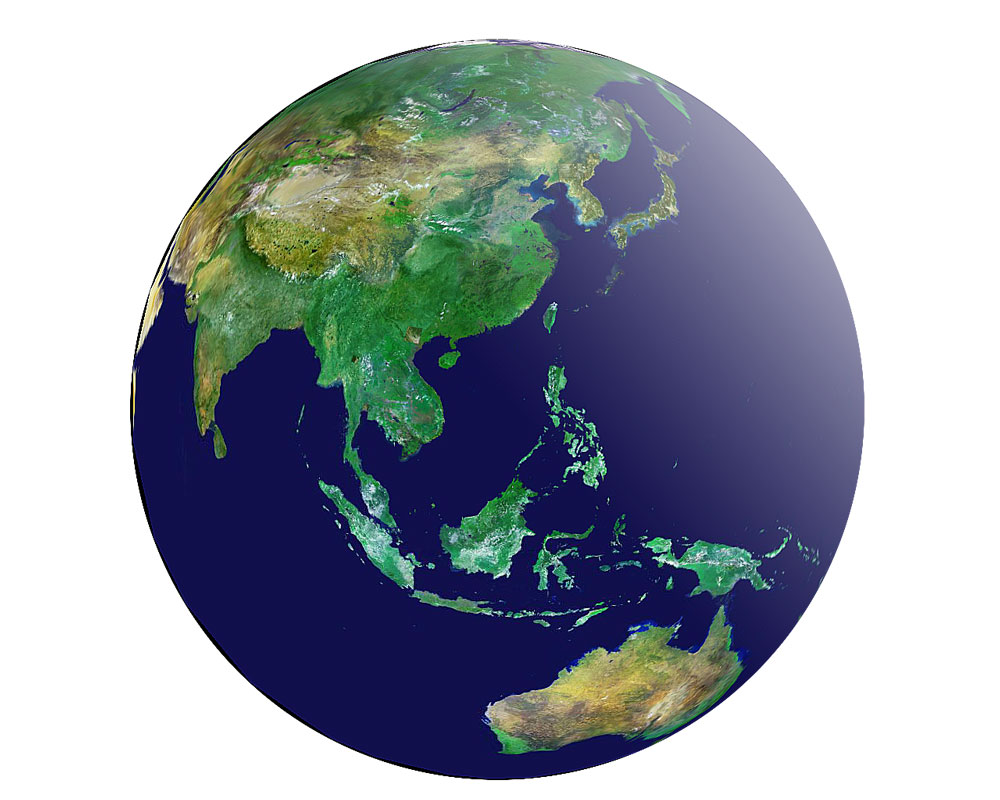 衛星画像の地球儀で意外な発見:...