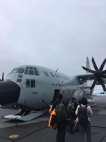 East GRIPへ向かう米軍機