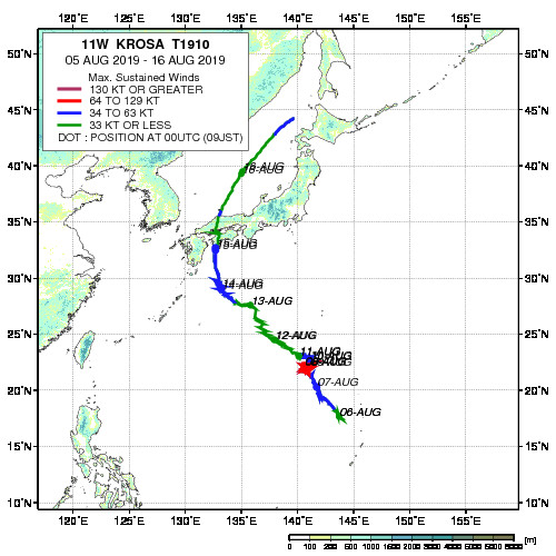 JAXA/EORC台風データーベース