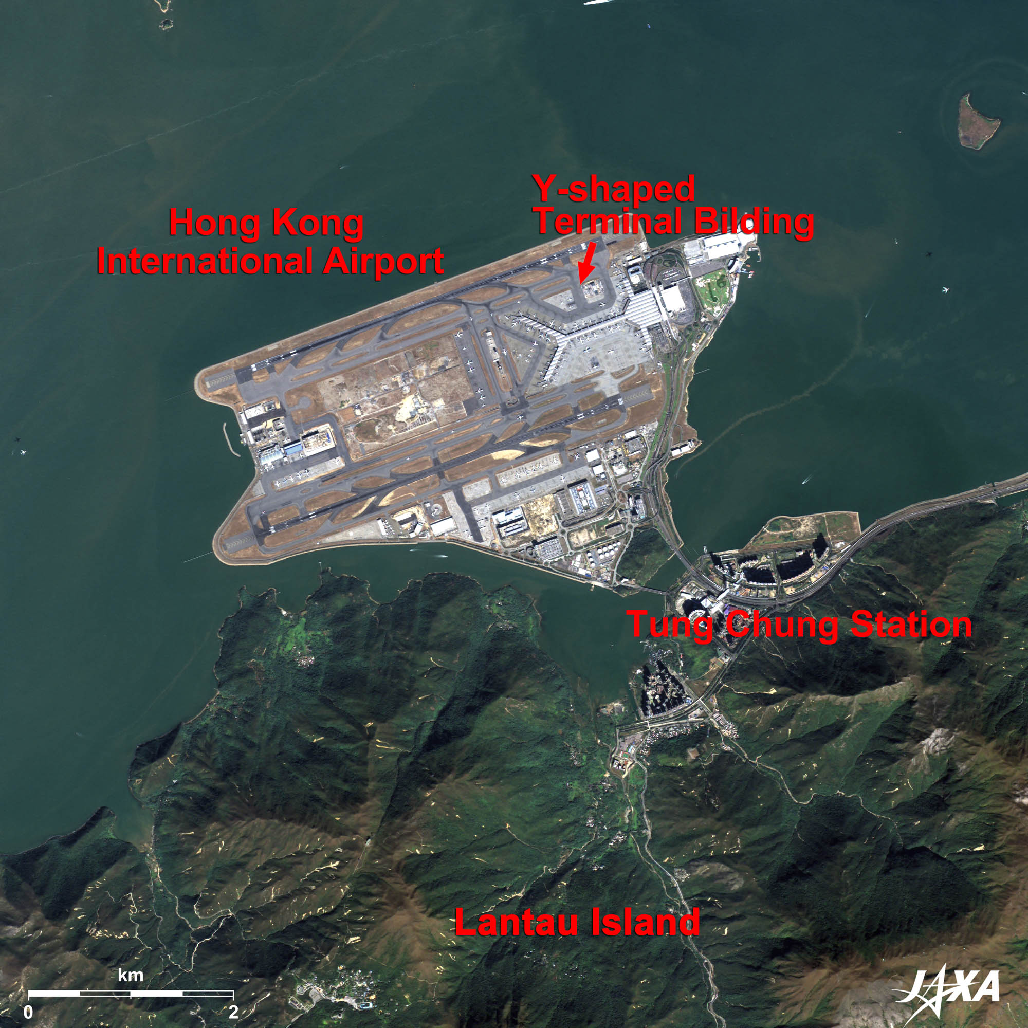 New airports in asia 2010 jaxa earth observation research center hong kong international airport kmz 355 mb low resolution as seen on google earth gumiabroncs Images