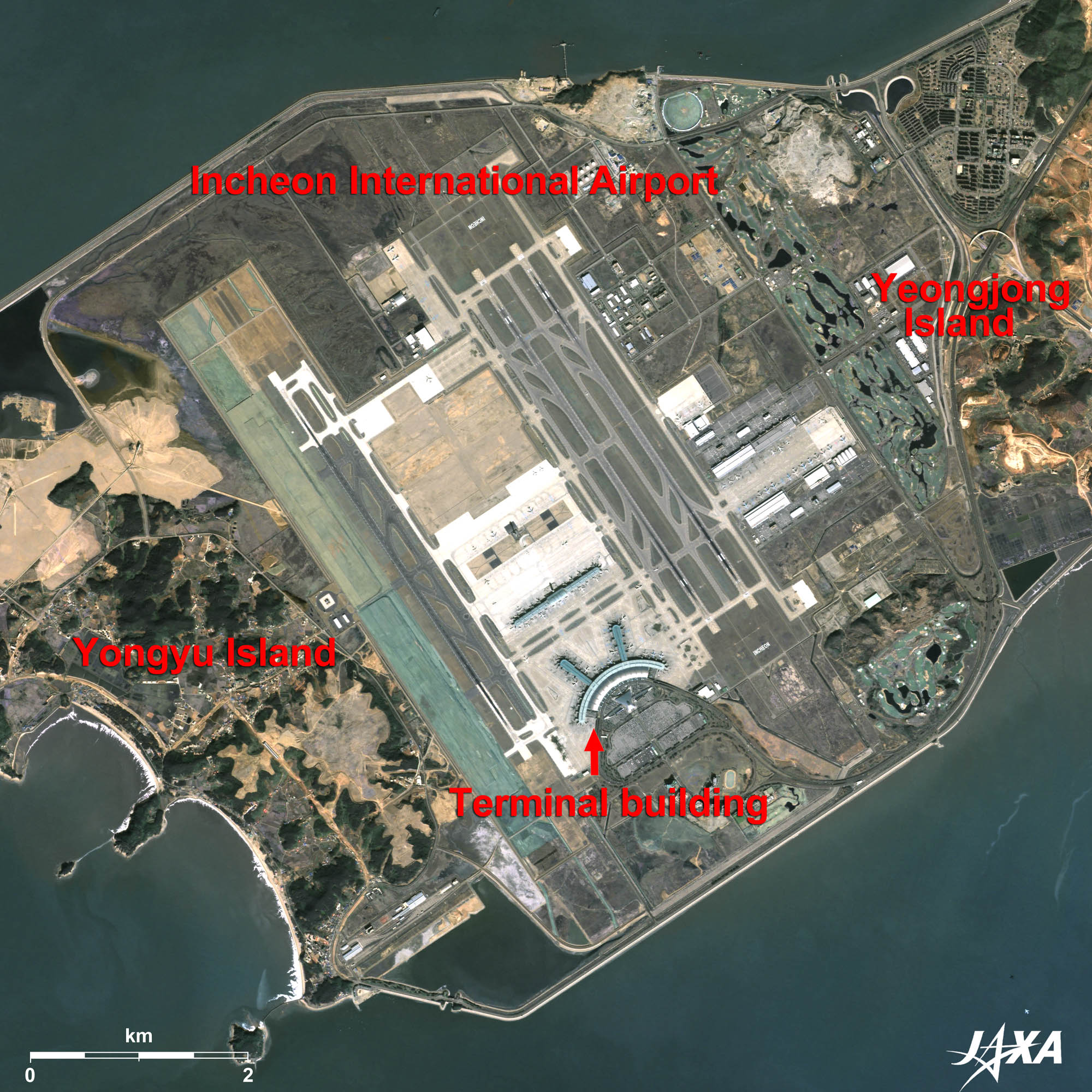 new airports in asia 2010 jaxa earth observation
