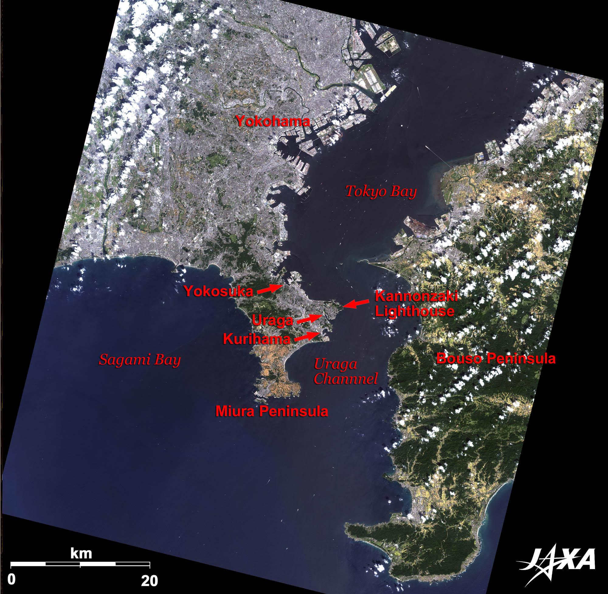 Uraga And Yokosuka Japan 2010 Jaxa Earth Observation Research