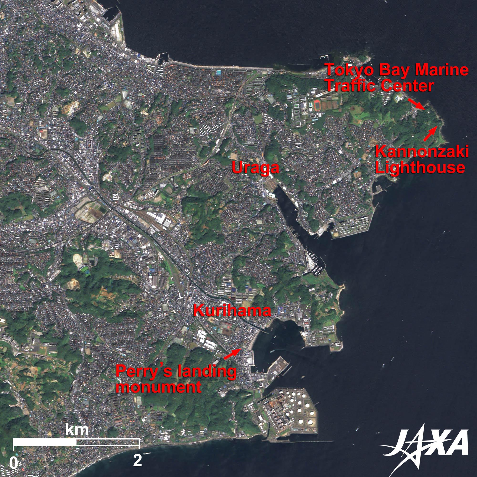Uraga and Yokosuka, Japan | 2010 | JAXA Earth Observation